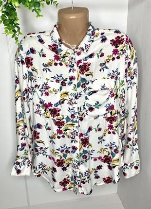 Блуза из плотной вискозы с цветочным принтом