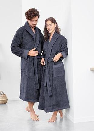 Махровый халат, добротный tcm tchibo, германия, р l