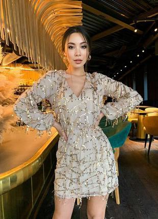 Платье с пайеткой