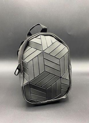 Мега крутая детская сумка-рюкзак матовый чёрный