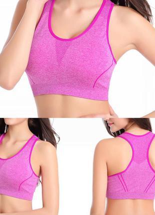 Спортивный топ для фитнеса, код:2362, топы для спорта, топик для бега, майка, одежда