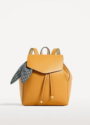 Новый рюкзак zara с шарфиком