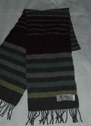 Шарф шотландского бренда wolsey,  шерсть 23х177