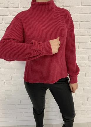 Стильный малиновый свитер 17&co
