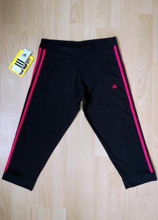 Спортивные обтягивающие штаны #adidas_essentials