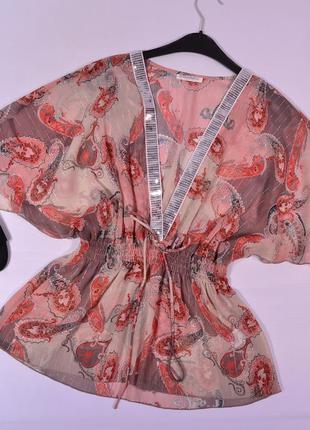 Шифоновая блуза с v-вырезом todays woman