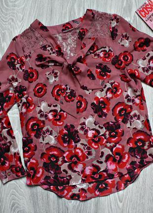Красивая яркая блуза р. 44
