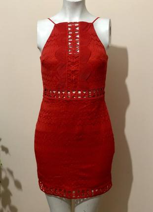 Платье красное,платье вечернее,платье яркое,платье гипюровое