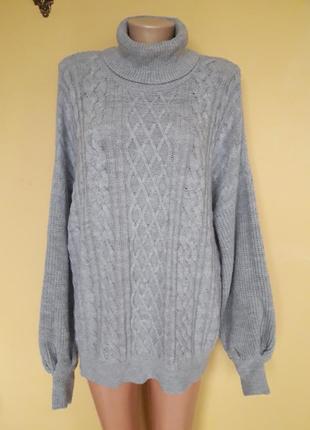 Теплый серый свитер,оверсайз