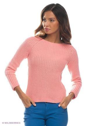 Укорочённый свитер в рубчик new look
