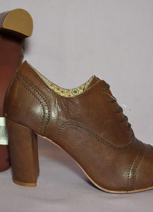 """Р.40.5-41 """"pier one"""",германия, натуральная кожа! cтильные,уютные туфли ботильоны ботинки"""