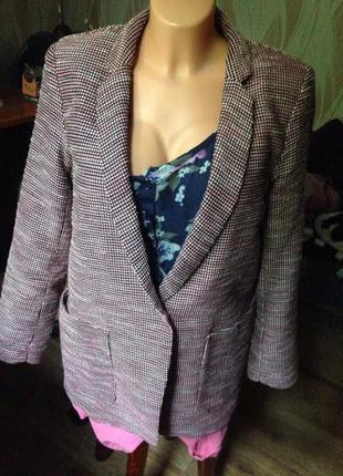 Пиджак розовый 10 размер