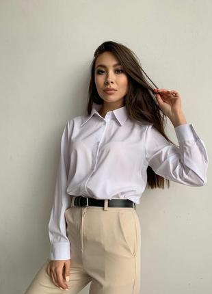 Рубашка белая, приятная к телу