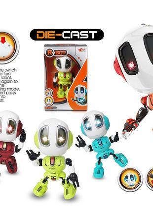 Металлический индуктивный робот, свет, звук, запись ming yuan