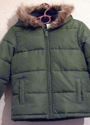 Crazy8 куртка утепленная на синтепоне с флисом 2-3 года качество!