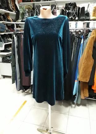 Платье велюровое next petite размер 6