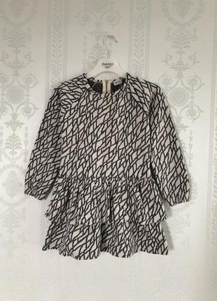 Платье тёплое miniature( дания) на 5-6 л/100-116 р хлопок!