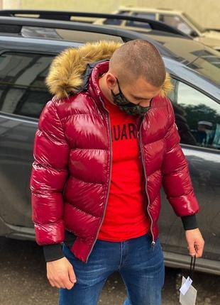 Куртка с мехом. теплая, стильная. производитель турция.