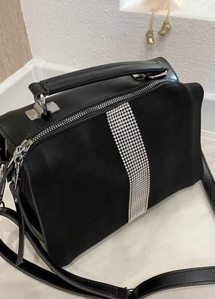Женская сумка diamond со стразами (чёрный )