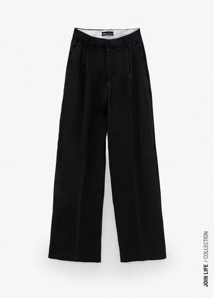 Чорні штани zara, прямий крій, розмір xs,s.
