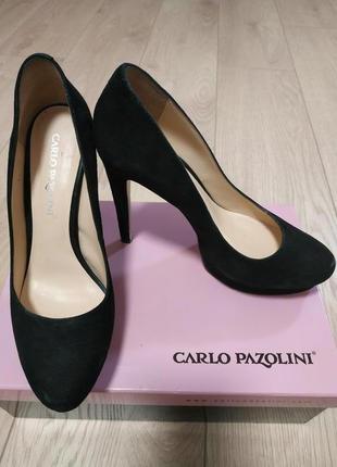 Туфлі чорні замшеві сarlo pazolini 36 р.