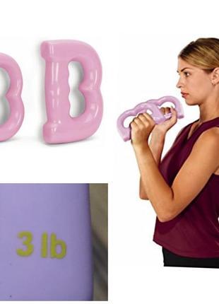 Everlast фирменные гантели 1,3 кг силиконовое покрытие гири для девочек