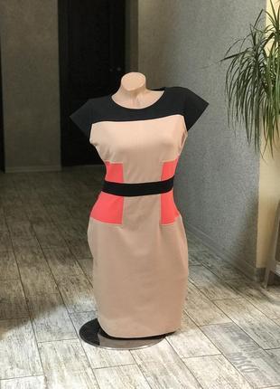 Трикотажное стильное платье