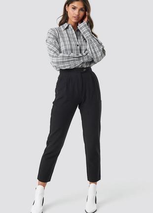 Зауженные брюки, высокая посадка f&f