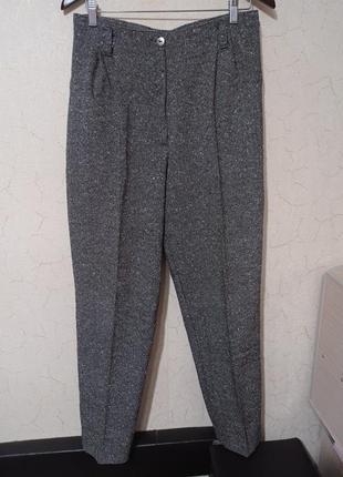 Тёплые плотные брюки высокая талия укороченный чиносы
