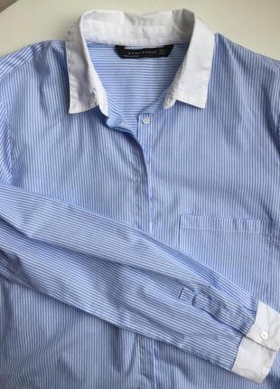 Классическая хлопковая рубашка в полоску