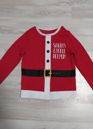 Новогодняя рождественская кофта свитшот от george на 4-5лет