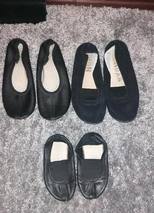 Кожаные черные чешки