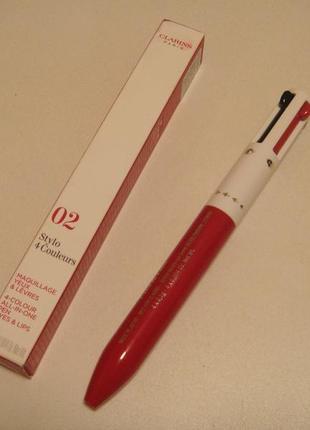 Clarins четырехцветная ручка для глаз и губ4colors make-up pen.акция1+1=3