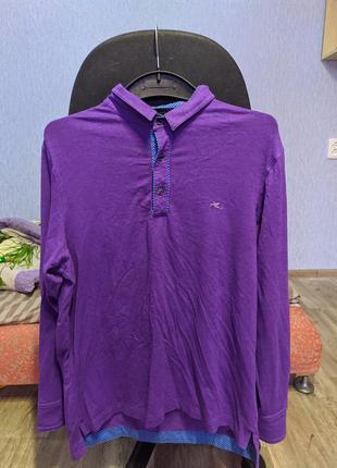 Etro лонгслив поло фиолетовый цвет