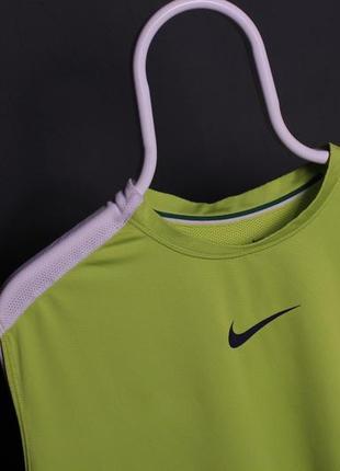 Nike майка безрукавка салатовая