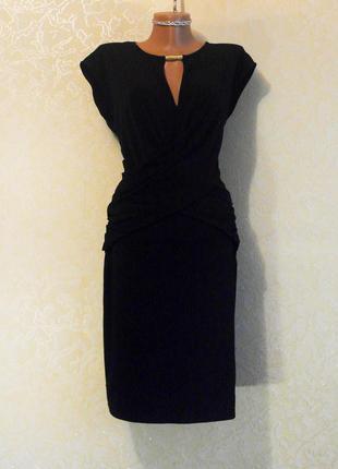 Стильное красивое черное элегантное платье (xl, xxl)