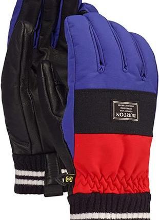 Кожаные лыжные сноубордические перчатки burton размер l-xl