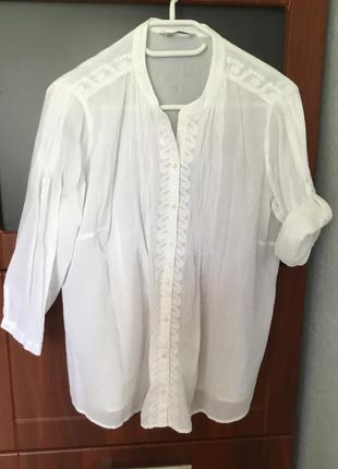 Шикарная блуза-рубашка большого размера от m&s