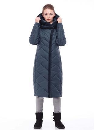 Пальто полуприталенного силуэта, выполнено из плащёвой ткани,  р.56,58 код 2089м
