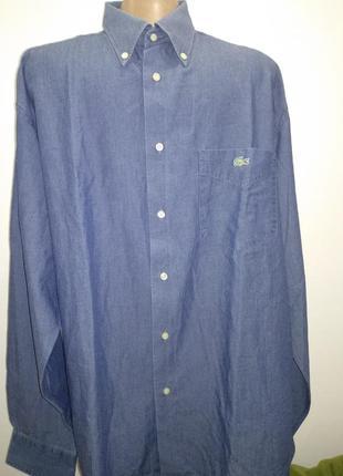 Джинсовая рубашка,  lacoste