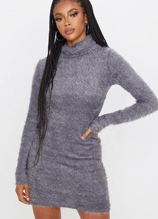 Тёплое платье джемпер, свитер с длинными рукавами