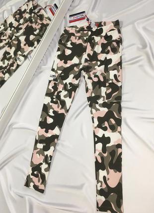 Классные камуфляжные брюки штаны карго размер xs-s