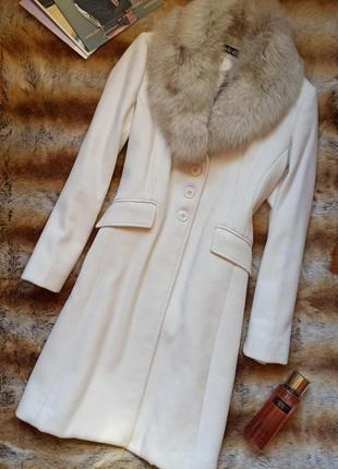 Пальто с мехом из песца bellali италия