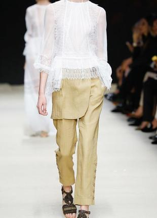 Alberta ferretti невероятные брюки лён