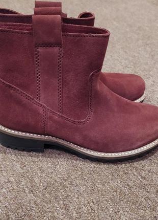 Оригинальные замшевые ботинки ecco!!!
