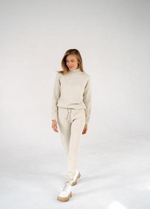 Тёплый костюм / вязаный костюм / кашемировый костюм / шерстяной костюм / зимний костюм