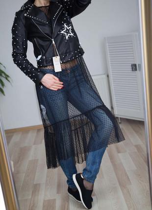 Из джинсы и фатина
