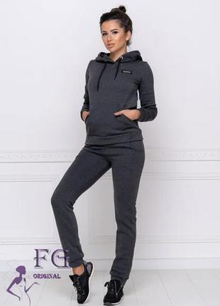 Тёплый спортивный костюм из штанов и толстовки