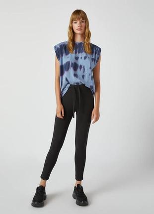 Базовые легинсы лосины штаны с эластичной талией