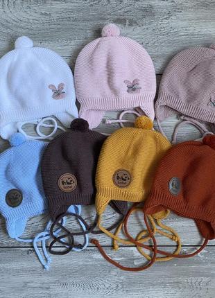 Шапочки шапка вязаная на флисе 🔥😍🤩